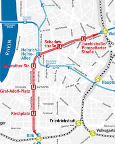 Dusseldorf Subway Map Kirchplatz.Wehrhahn Line Duesseldorf Schussler Plan Ingenieurburo Railway